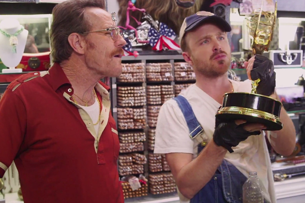 """""""Barely Legal Pawn"""" with Bryan Cranston, Aaron Paul and Julia Louis-Dreyfus"""