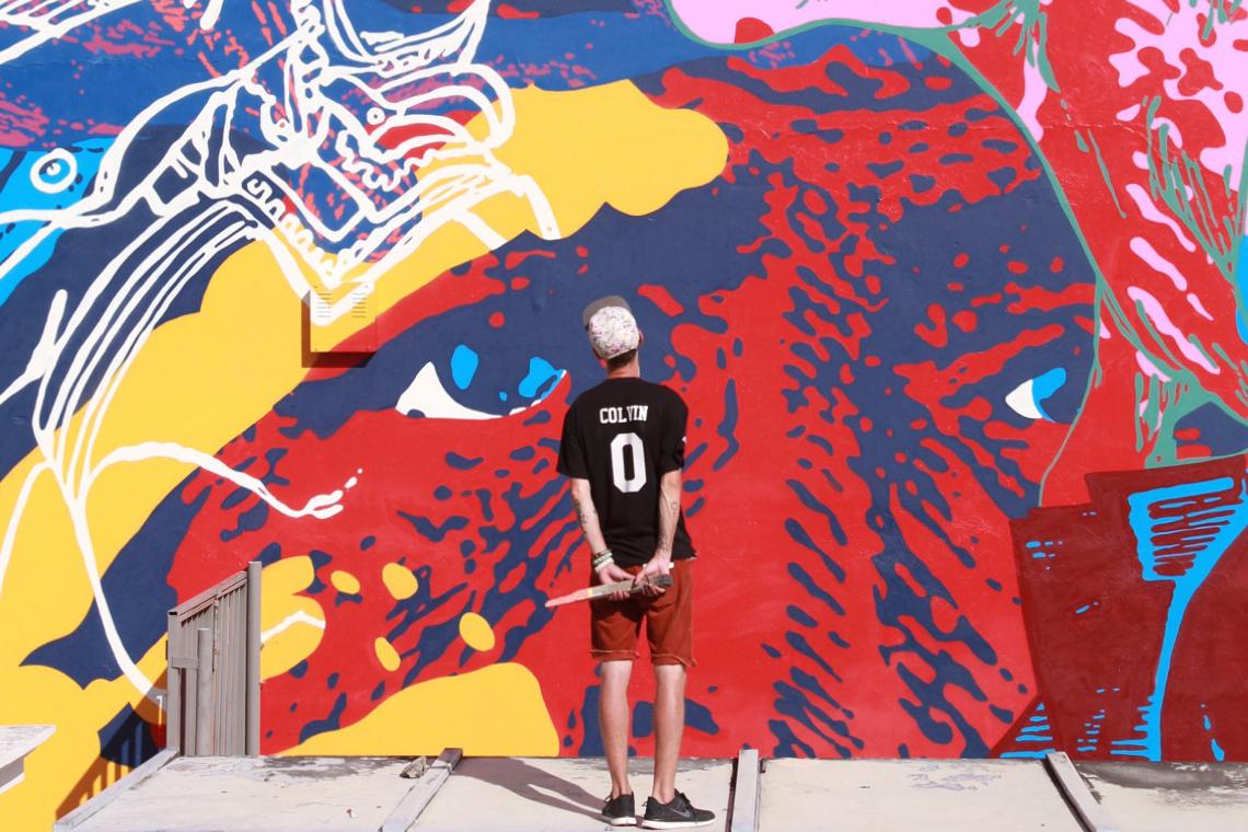 """CYRCLE. """"Struggle of Nations"""" Mural @ Museo de Arte Contemporaneo Puerto Rico"""