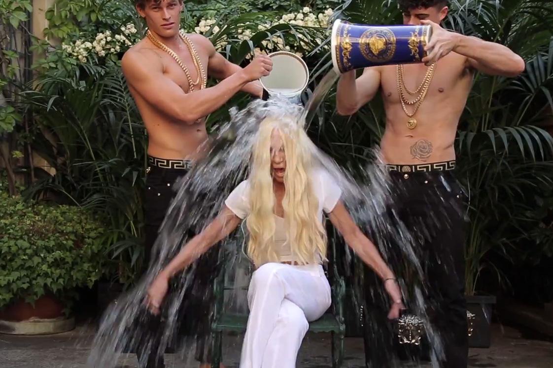 Donatella Versace Takes the ALS Ice Bucket Challenge