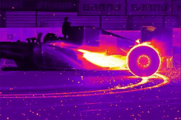 This is How An F1 Racecar Looks Under Thermal Vision