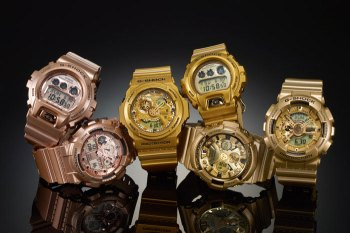 """Casio G-Shock 2014 """"Crazy Gold"""" Collection"""