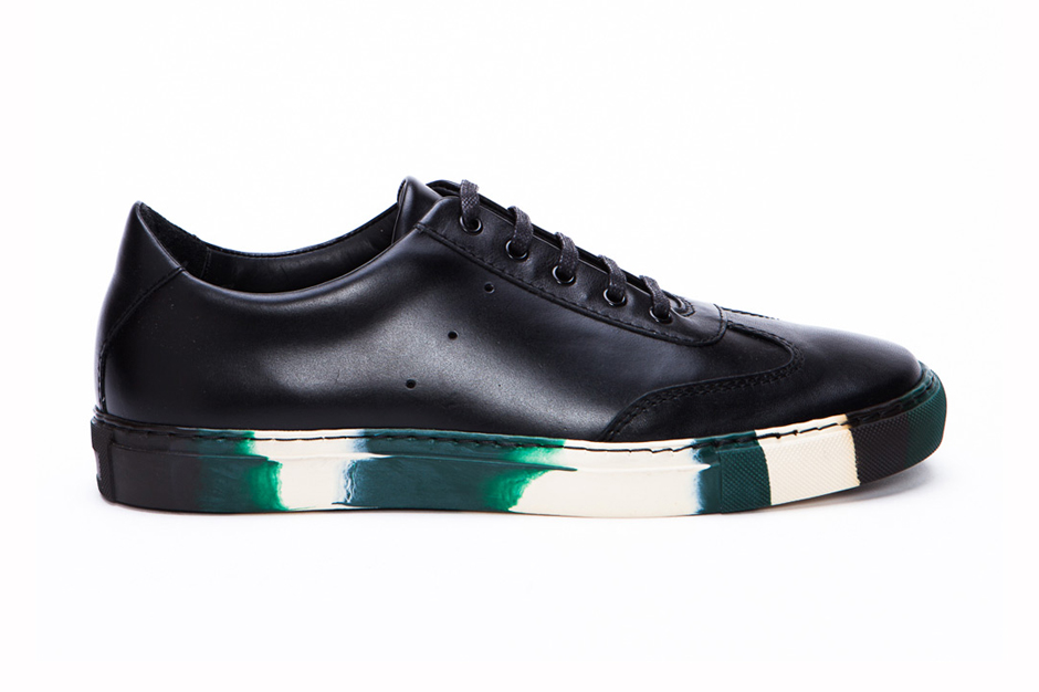 generic man for comme des garcons shirt leather sneaker