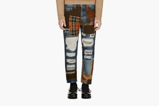 Junya Watanabe Blue Patchwork Jeans
