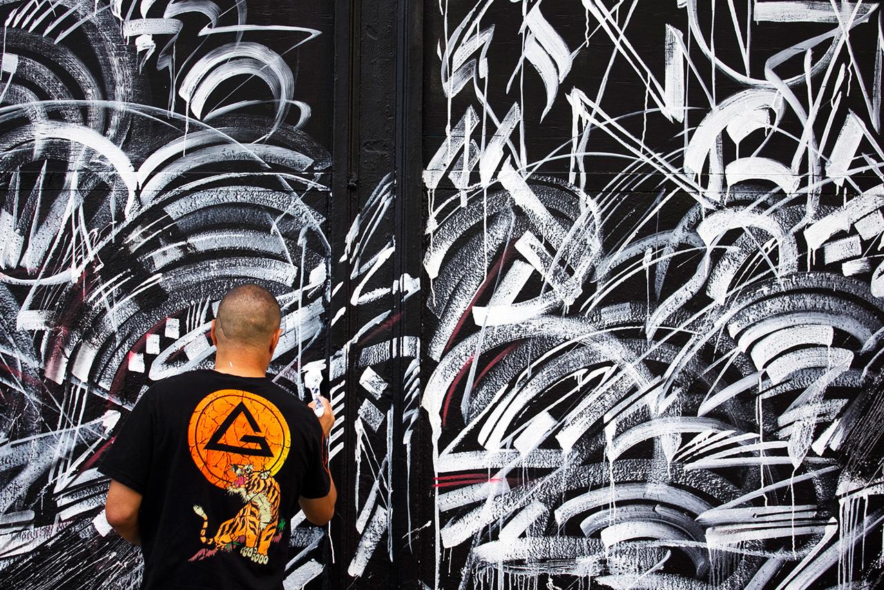 "Kamea Hadar and Defer Paint ""Paradise Lost"" Mural in San Francisco"