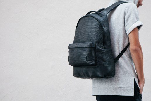 KRISVANASSCHE 2014 Fall/Winter Basket Weave Backpacks