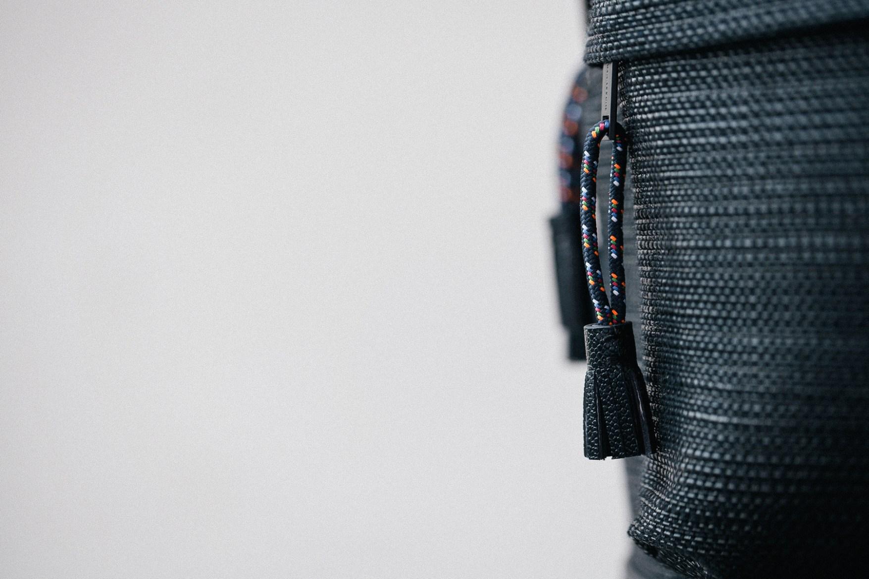 KRISVANASSCHE 2014 Fall/Winter Basket Weave Backpacks