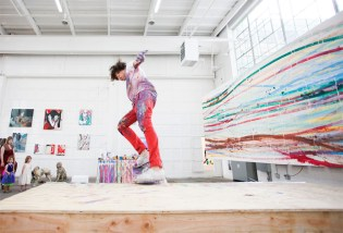 Matt Reilly Skateboard Painting at Mana Contemporary