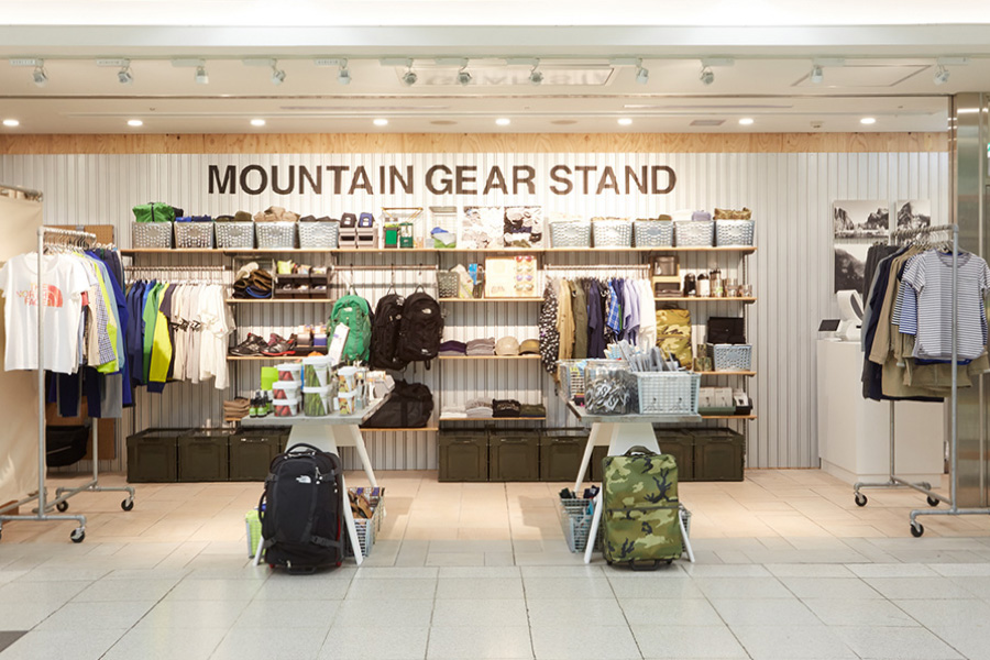 mountain gear stand pop up opens in shinjuku