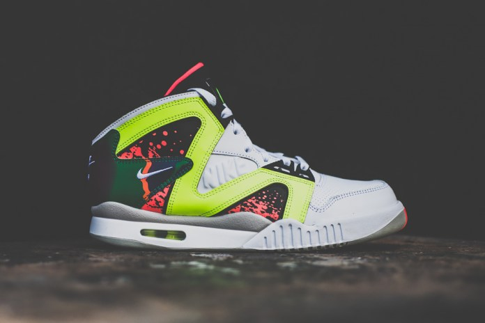 Nike Air Tech Challenge Hybrid White/Volt-Hot Lava