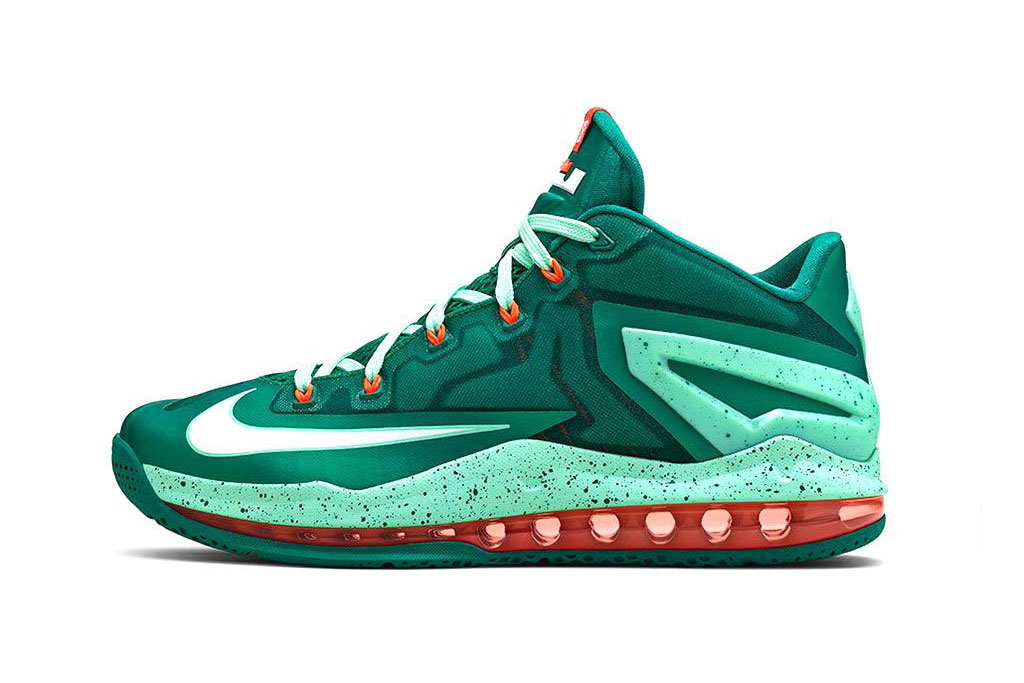 nike lebron 11 max low mystic green