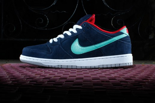 Nike SB Dunk Low Pro Obsidian/Gym Red-White-Crystal Mint