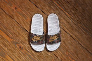 Nike WMNS Benassi JDI QS White/Black-Metallic Gold