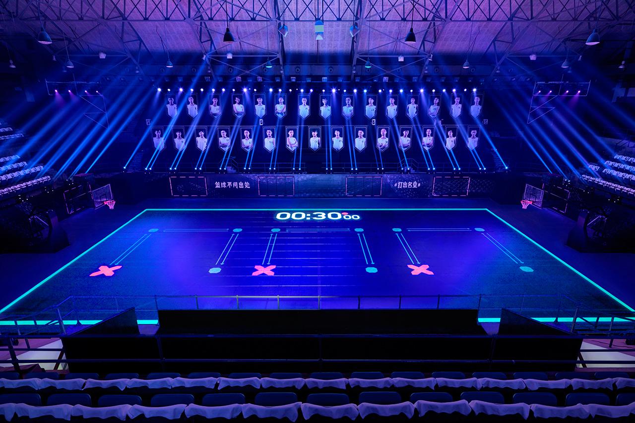 """Nike's """"House of Mamba"""" LED Basketball Court"""