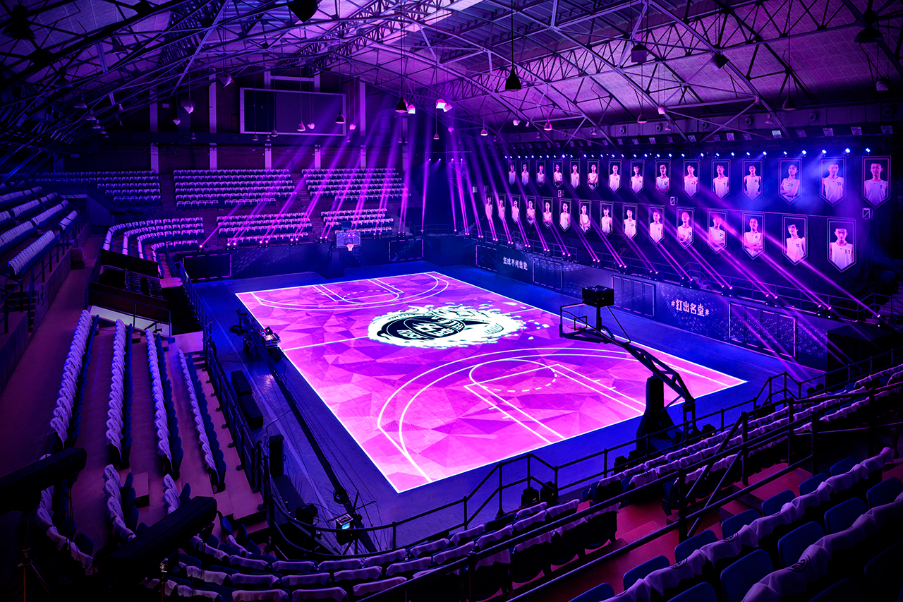 nikes house of mamba led basketball court
