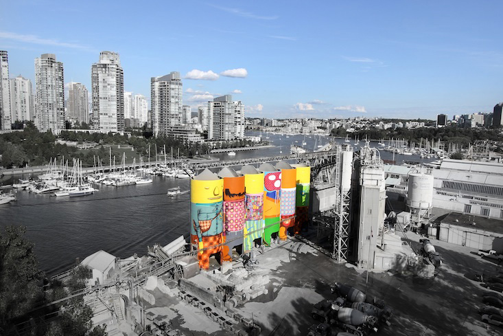 "Os Gemeos Paints ""Giants"" On Vancouver Silos"