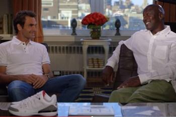 "Roger Federer and Michael Jordan Talk Sneaker Design in ""Greatness Meets Greatness"""