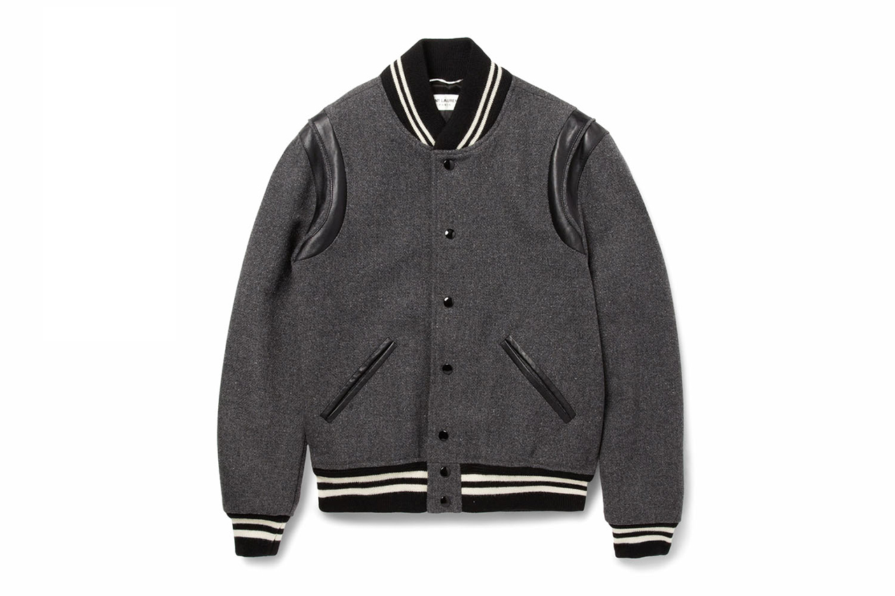 saint laurent 2014 fall winter varsity jacket