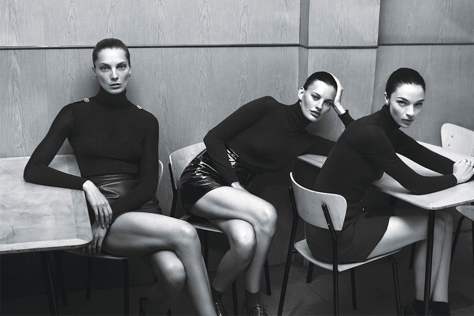 super normal super models by mert marcus for w magazine