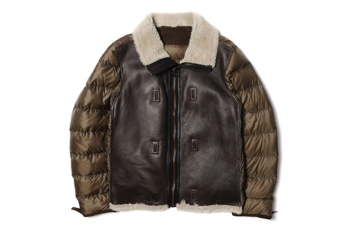 Ten C Shearling Liner Off White Jacket