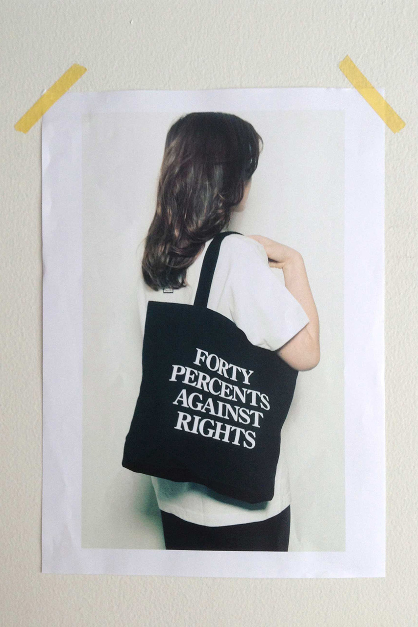 FORTY PERCENTS AGAINST RIGHTS 2014 Fall Collection