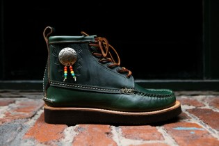 "Yuketen 2014 Fall/Winter Native Maine Guide Boot ""Loden Green"""