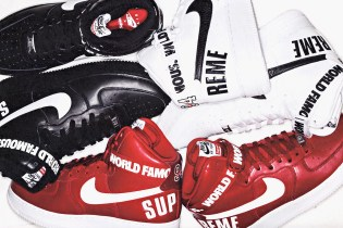 A First Look at the Supreme x Nike Air Force 1 High Collection