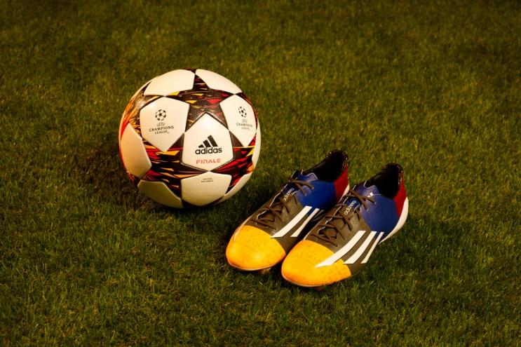 "adidas Unveils adizero F50 Cleat ""Champions League"" for Lionel Messi"