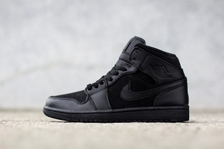 "Air Jordan 1 Mid ""Triple Black"""