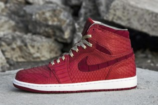 Air Jordan 1 Red Python & Sueded Croc Custom by JBF