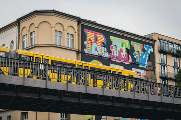 ben eine paints mural in berlin for project m 5