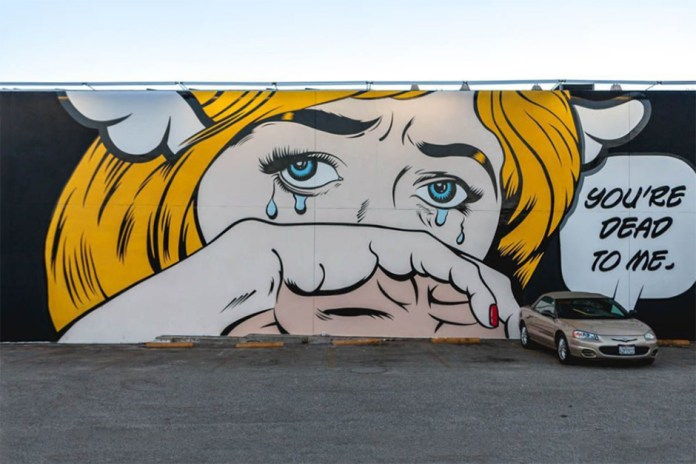 D*Face 'You're Dead To Me' Mural @ West Hollywood Los Angeles