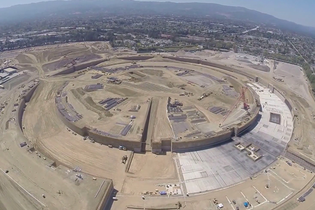 Drone Reveals Apple's New Spaceship Campus