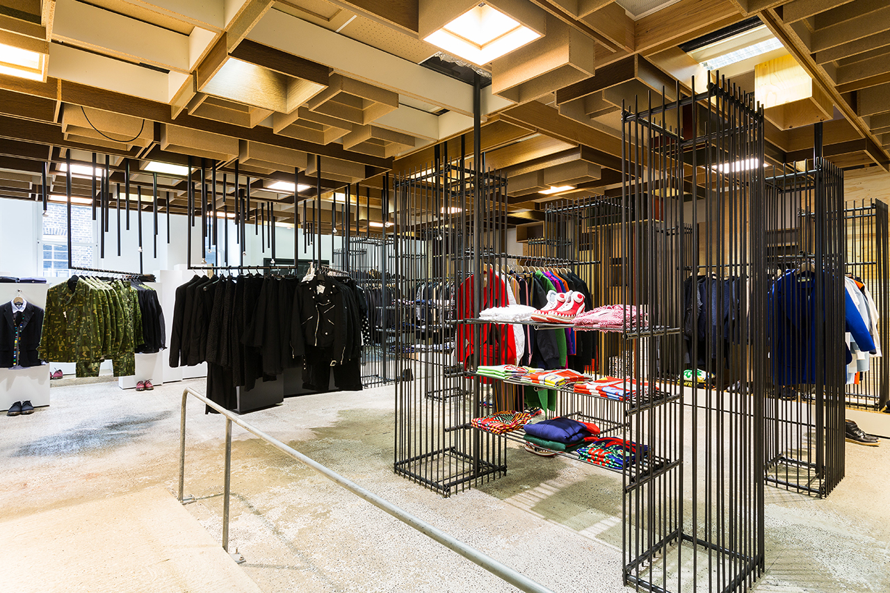 take a look inside the build out for dover street market londons 10th anniversary