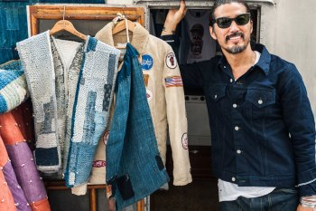 """F.I.L. Indigo Camping Trailer """"The Traveling Trailer"""" Pop-Up Store"""