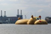 Florentijn Hofman Floats a Giant Hippopotamus Down the River Thames