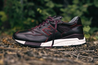 "Horween Leather x New Balance M998DW ""Brown Burgundy Mix"""