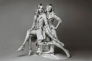 "Kate Moss & Cara Delevingne for ""My Burberry"" Fragrance Campaign"