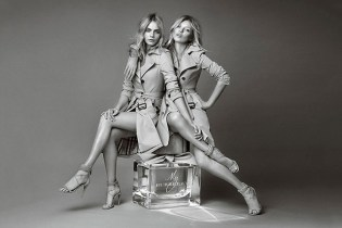 """Kate Moss & Cara Delevingne for """"My Burberry"""" Fragrance Campaign"""
