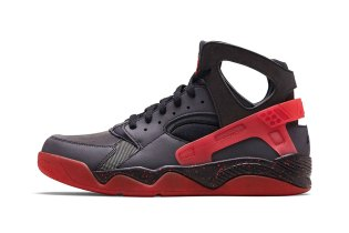 Nike Air Flight Huarache Premium Black/Anthracite-Challenge Red