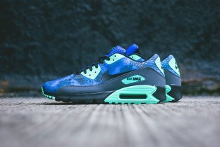 Nike Air Max 90 Comfort PRM Hyper Cobalt/Black-Dark Grey-Green Glow