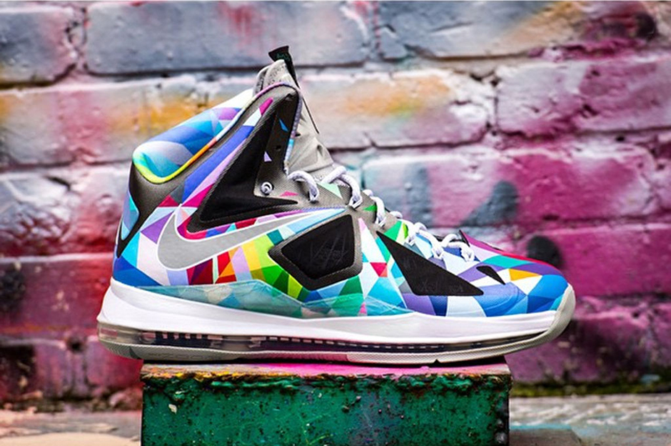 """Nike LeBron X """"Shattered Prism"""" Customs by ROM"""