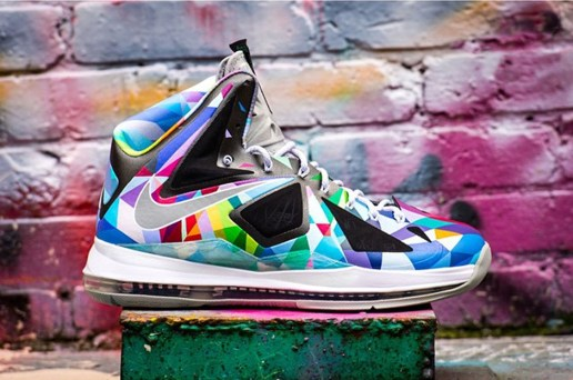 "Nike LeBron X ""Shattered Prism"" Customs by ROM"