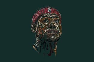 Nike Swoosh Portraits of Paul Rodriguez, LeBron James and Tiger Woods