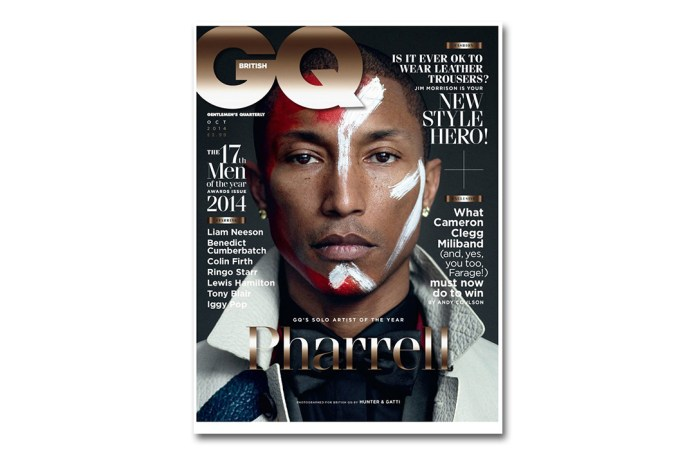 Pharrell Covers British GQ's 2014 October Issue