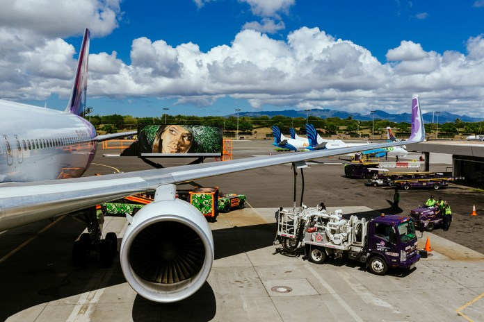 POW! WOW!  and Fitted Team Up for the Hawaiian Airlines Ground Service Vehicle Project