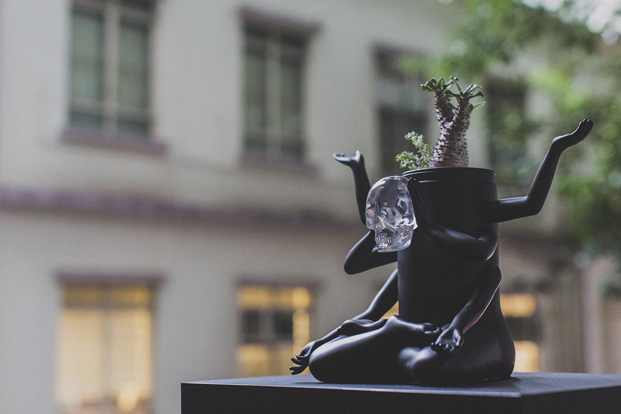 """Prodip Leung x How2work """"Plants of Gods Terrarium"""" Sculpture"""