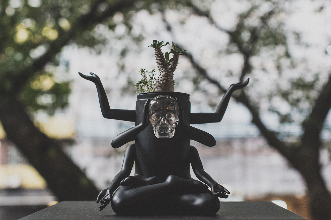 "Prodip Leung x How2work ""Plants of Gods Terrarium"" Sculpture"