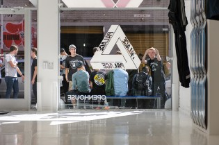 Here's a Recap of the Palace Skateboards x adidas Originals Pop-Up Launch This Past Weekend