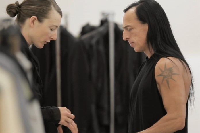 Rick Owens Sits Down with The New York Times in His Paris Studio
