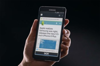 Samsung Once Again Takes Aim at Apple with New Galaxy Note Commercial